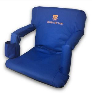 Owen Active Cushioned Stadium Chair with reclining back and cup holder for Sale in Hilliard, OH