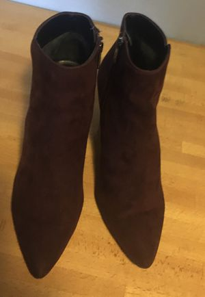 SAM EDELMAN Sexy Women's high heel ANKLE Boots Plum Fashion Suede Size US 8 1/2 for Sale in San Diego, CA