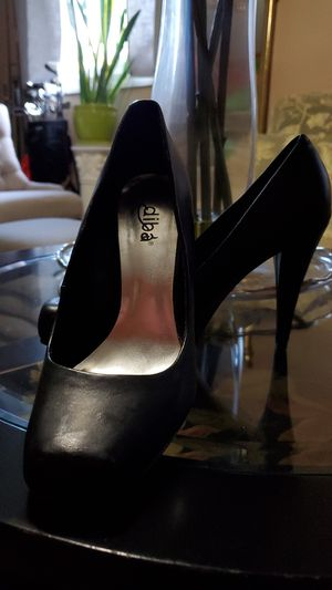 Size 6.5 black square point heels for Sale in Fairfax, VA