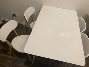 Dining table with four matching chairs for Sale in Los Angeles, CA