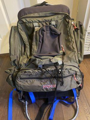 Jansport hiking outdoor metal frame backpack for Sale in Torrance, CA