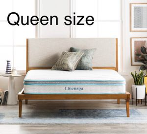 """Linenspa Spring and Memory Foam Hybrid Mattress, 8"""", Queen size for Sale in Peoria, AZ"""