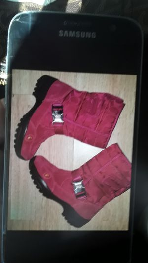 Coach pink snow boots new condt for Sale in San Antonio, FL