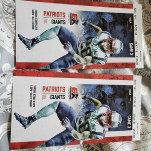 Pat's Tix for Tonites game in Foxborough for Sale in Norwood, MA