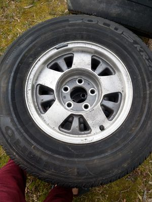 4 tires and rims (chevy astro or silverado 5 hole) for Sale in Hyattsville, MD