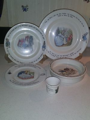 Peter Rabbit plate set for Sale in Pamplin, VA