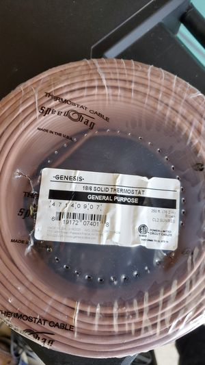 18/6 t stat wire for Sale in Moreno Valley, CA