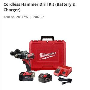 Milwaukee Cordless 1/2 In Hammer/Drill ,2 Battery's An Charger for Sale in Cannon Falls, MN