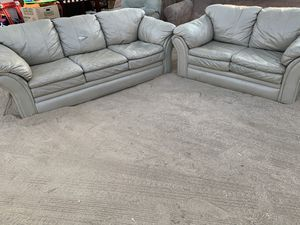 Leather couch and love seat for Sale in Hesperia, CA