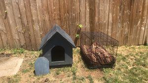 Custom dog house, crate & plush bed for Sale in Philadelphia, PA