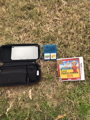 3dsXL console,3ds case Minecraft and Super Mario Maker for Sale in Austin, TX