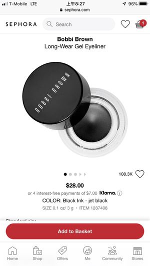 New Bobbi brown eyeliner gel for Sale in Old Bridge Township, NJ