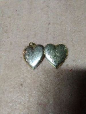 Gold heart charm for Sale in Pittsburgh, PA