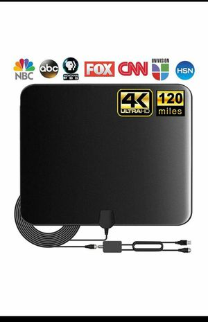 (W223) TV Antenna, Indoor Amplified Digital HDTV Antenna, 80-120 Miles Range Signal Booster for 4K 1080p Fire TV Stick Local Channels and All TV's for Sale in Industry, CA