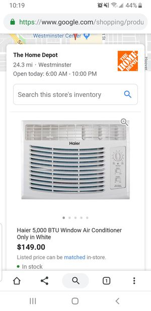 Haier Air conditioner 5000 Btu 11.0 Ceer/ Support bracket for Sale in Los Angeles, CA