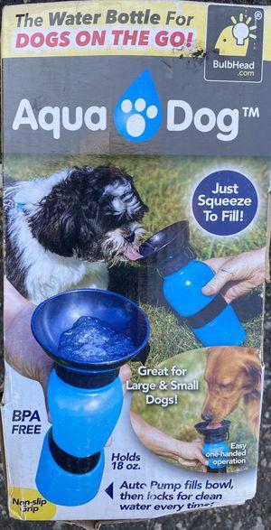 Aqua Dog Travel Water Bowl Bottle-blue-NEW for Sale in Elizabeth, NJ