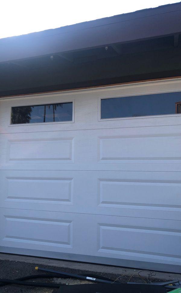 Like new 7ft tall 10' wide garage door