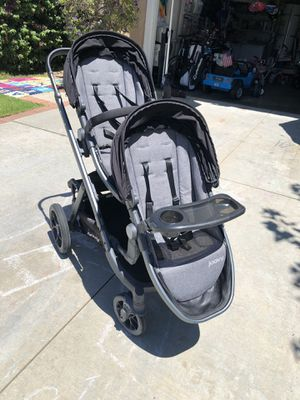 Joovy Qool double stroller with rear seat (3 seats total) for Sale in Rancho Santa Margarita, CA
