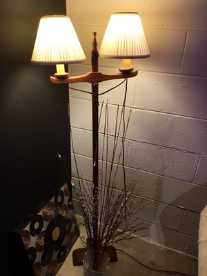 Antique solid wood lamp for Sale in Rockville, MD