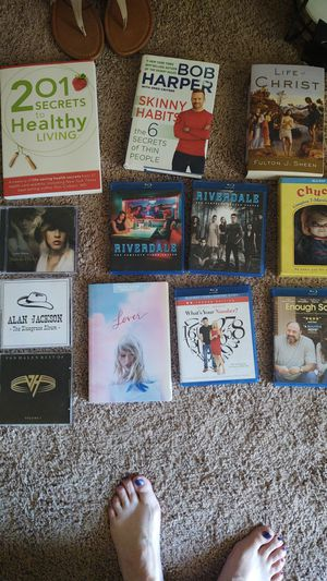 Assorted blu rays. , Music cds, and books. for Sale in Vancouver, WA
