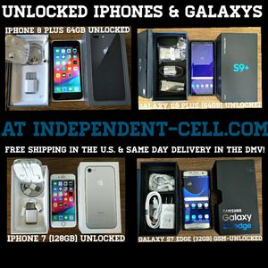Buy an Unlocked Galaxy or Iphone today for Sale in Falls Church, VA