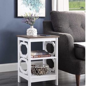 Convenience Concepts Omega End Table, White for Sale in Raleigh, NC