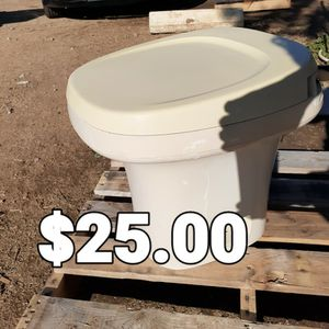 "Aqua-Magic 14"" Parchment RV Toilet for Sale in Perris, CA"