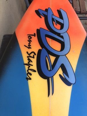 "Tony Staples 6.4 20""+ 2.75 80's vintage crowd killer surfboard for Sale in San Diego, CA"