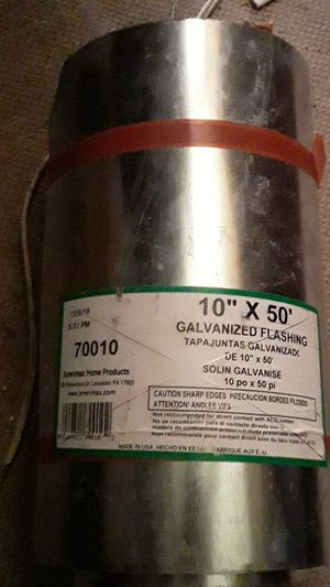 Amerimax 10-in x 50-ft Galvanized Steel Roll Flashing for Sale in San Antonio, TX