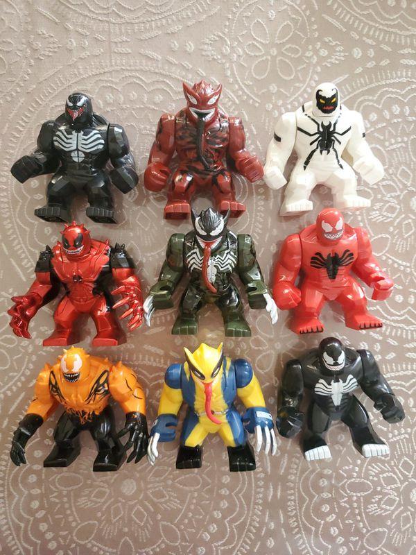 Lego. Marvel. Thor. Spiderman. Captain America. Mysterio.