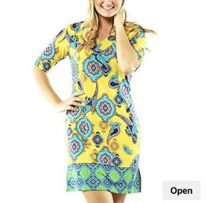 Women's blue and yellow floral dress for Sale in NO POTOMAC, MD