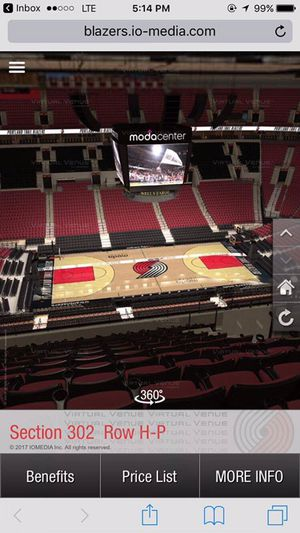 Trail Blazers ticket vs thunder for Sale in Portland, OR