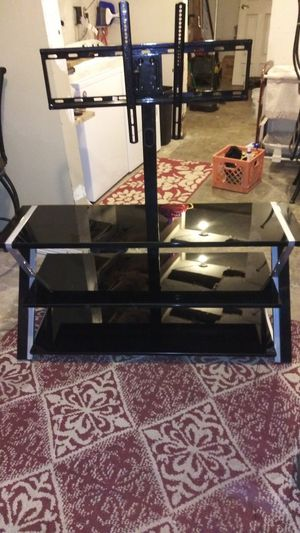 """Whalen Xavier 3-in-1 TV Stand for TVs up to 70"""", with 3 Display Options for Flat Screens, Black with Silver Accents for Sale in Abingdon, VA"""