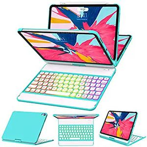 Ipad Pro 11 Case with Keyboard 2018-360 Rotatable - Wireless/BT - Backlit 17 Color - Auto Sleep Wake - Thin & Light - iPad Case with Keyboard for Sale in Hawthorne, CA