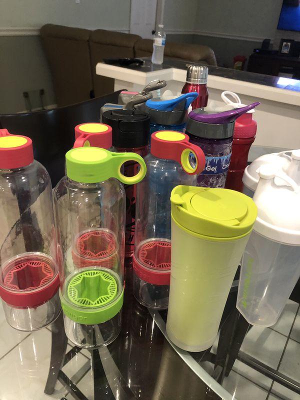 19 water bottles