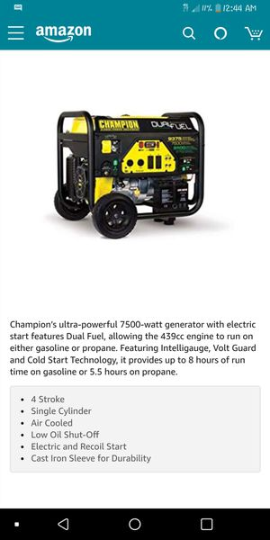 CHAMPION'S ULTRA POWERFUL GENERATOR for Sale in Winter Haven, FL