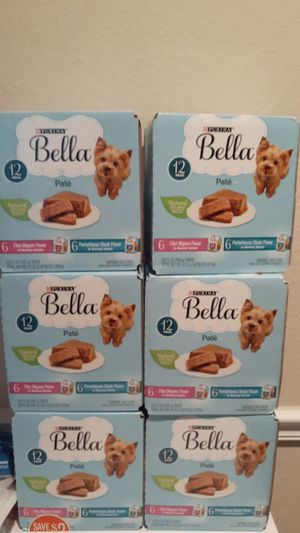 6 box of BELLA DOG FOOD**read post** for Sale in Orlando, FL