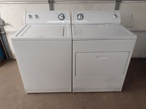 Whirlpool electric top loader set free delivery for Sale in Midvale, UT