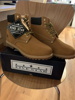 Five star Genuine Leather Men's Work Boots for Sale in Palo Alto, CA