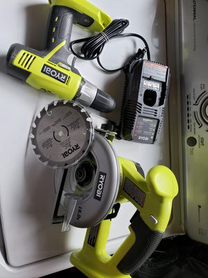 RYOBI circular saw 18v drill 18v one charger for Sale in Riverside, CA