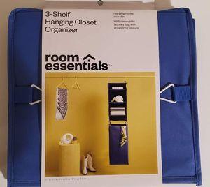Room Essentials 3 shelf hanging closet Organizer for Sale in Orlando, FL