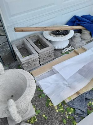 Hand carved natural stone fountains ,planters,bathes for Sale in Castro Valley, CA