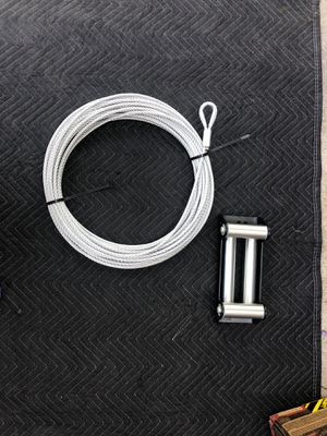 SMITTYBILT 10K STEEL WINCH CABLE and 4-WAY ROLLER FAIRLEAD for Sale in Duarte, CA