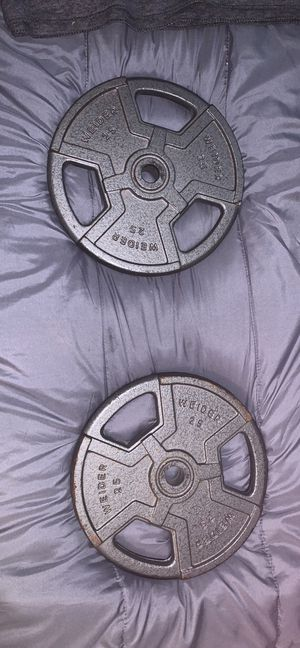 25 pound weight plate (2) Weider for Sale in Toledo, OH