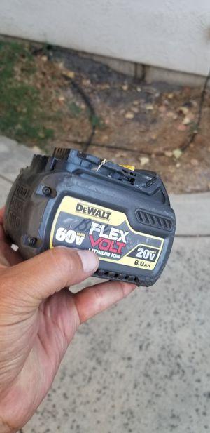 Dewalt flex volt 60v 6.0 hour battery. for Sale in Stockton, CA