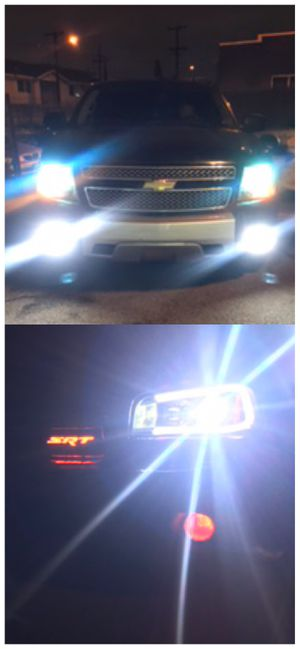 Ultra bright led lights for all car headlights or foglights 25$ pair for Sale in Los Angeles, CA
