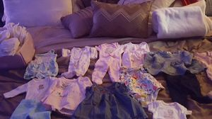 I have preemie and newborn diapers along with preemie and newborn clothes for Sale in North Lauderdale, FL
