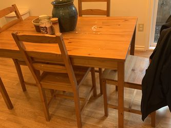 Small Table And Chairs - Solid Wood for Sale in Beaverton,  OR