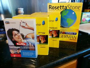 Moving sale and Rosetta Stone and Berlitz German and Hebrew language courses for Sale in Miami, FL