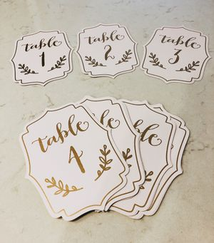 Wedding Table Number for Sale in Los Angeles, CA